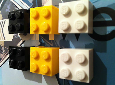 Ideal Gift AFOL LEGO Fridge Noticeboard Magnets x 6 Red and Black
