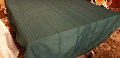 Oval Forest Green Two-Tone​ Cotton/Poly Tablecloth 60.5 x 83