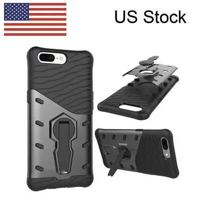 Rugged Armor Case For Oneplus 5 Dual-layer Kickstand Shockproof Hard Cover