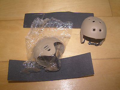 ACE 1/6 Scale Military Action Figure Parts - Pro-tec Helmets 2 Tan with Padding