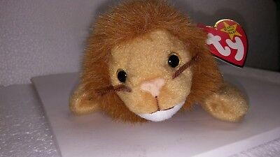 df379e62218 Ty Beanie Baby Roary PVC W  Errors 4th Gen Swing 5th Tush Retired Canadian  New