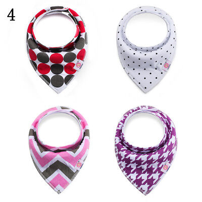 Baby Bandana Drool Bibs Set  4-Pack Unisex Absorbent Cotton New