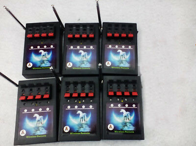 6pcs 4Cues receiver-Switch display 433MHZ remote program-fireworks firing system