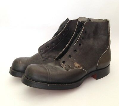 Vintage black Leather Military boots John Frith And Son 1958 size 6.5 AU