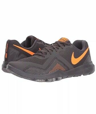 42e8d8f234db Men Nike Flex Control II Cross Training lifestyle Shoes Grey Orange 924204 -080