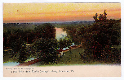 1905 Lancaster PA View from Rocky Springs Railway UDB Railroad RR RARE Postcard