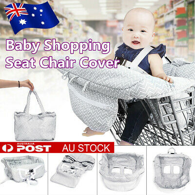 Baby Shopping Trolley Seat Cover Supermarket Cart Child High Chair Protector AU