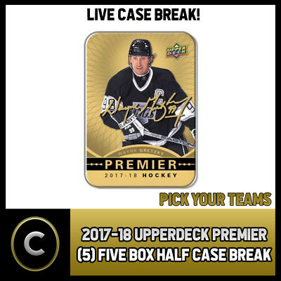 2017-18 Upper Deck Premier (5) Box 1/2 Case Break #H253 - Pick Your Team -