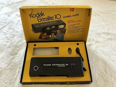 Vintage Kodak Ektralite 10 camera and Original Box