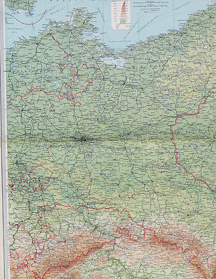Map of east germany Large 1922 Original Antique