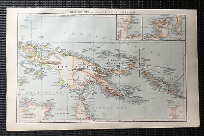 Map Of New Guinea & Papuan Archipelago 1899