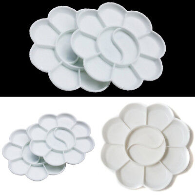 Utility White Plastic 10-well Round Paint Palettes Artist Pallette Hot Sale