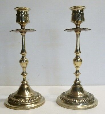 Pair beautiful CANDLE HOLDERS Antique Bronze