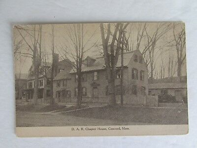 E479 Postcard D A R Chapter House Concord Massachusetts MA Daughters Republic