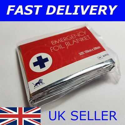 NEW LARGE 2.1 METRE BLUE LION EMERGENCY THERMAL FOIL BLANKET  First Aid Camping