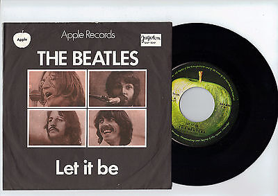 THE BEATLES let it be/you know my name 1970 YUGOSLAVIAN 7'' SINGLE