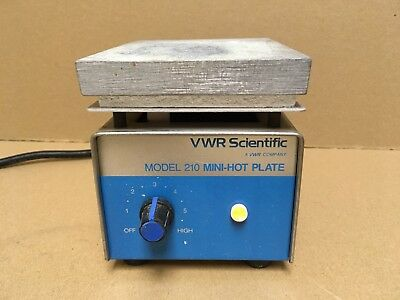VWR Scientific Model 210 Mini-Hot Plate CAT No. 33918-556 Used Tested Works