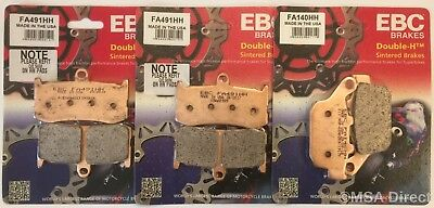 Triumph Daytona 675 (2009 to 2012) EBC Sintered FRONT and REAR Disc Brake Pads