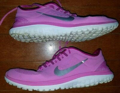 06b77959f5557 Nike Women s FS Run Lite Running Shoes Pink Silver Women s Size 10 Athletic