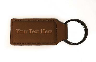 Customized 3D Laser Engraved Custom Personalized Keychain Gift (BROWN)
