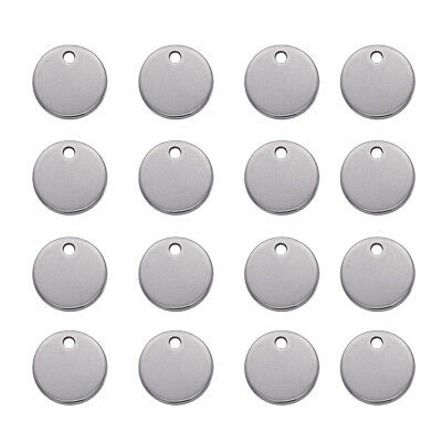100PCS Stainless Steel Round Metal Tag Stamping Blanks Round Charm Pendant 10mm