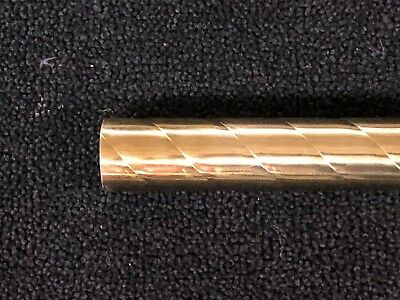 "Spiral / Twisted Brass Tubing 1-1/4"" x 17-1/4"" polished"