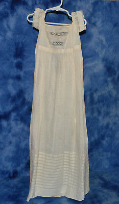 Antique Vintage Baby Christening Gown Dress Old And Not Perfect See Pics Size