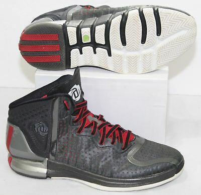 low priced 87252 651dd Adidas Derrick D Rose 4 Mens Basketball Shoes G67399 Black Red Metallic  Size 13