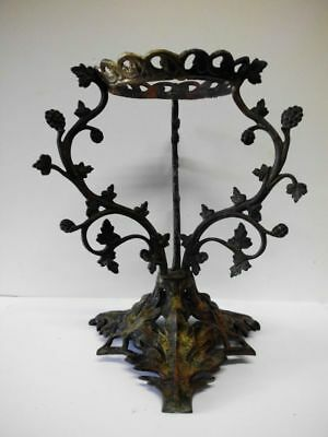 antike Petroleumlampen-Halterung-Messing-19th century-brass oil lamp holder