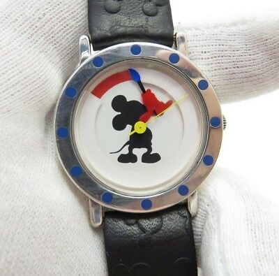 MICKEY MOUSE,Michael Graves,ART DECO,.925 Case,RARE MEN'S CHARACTER WATCH,1870