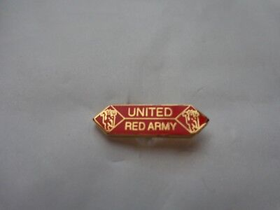 Classic Man Utd Manchester United 'united Red Army' Banner Football Pin Badge #2