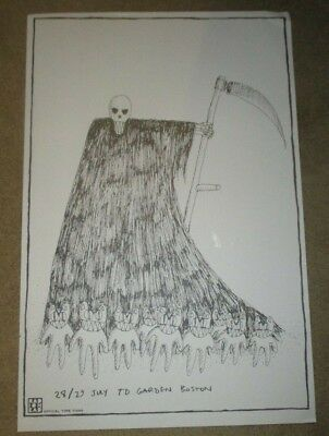 RADIOHEAD concert tour poster print BOSTON JULY 2018 Stanley Donwood DINGED