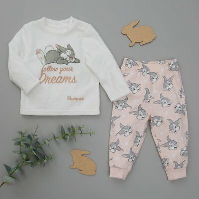 Brand New With Tags Primark Disney Baby Girl's Bambi Thumper 2 Piece Pyjama Set