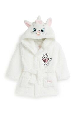 Bnwt Primark Disney Baby Girl Aristocats Marie Kitten Dressing Gown Robe Sleep