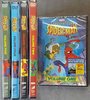 The Spectacular Spider-Man: Volumes 1-5 DVD Animated Series Sealed