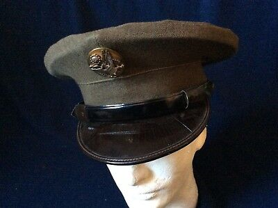 28d0d46f124 WWII US Army Air Corps Enlisted man Visor Service Cap Hat 7