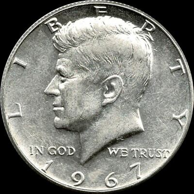 """A 1967 P Kennedy Half Dollar 40% SILVER US Mint """"About Uncirculated"""""""