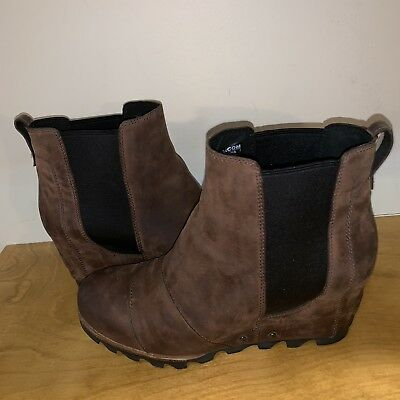 75479f2bf8f Sorel Lea Wedge Umber Brown Black 9.5 Joan Arctic Ankle Boot Great Condition