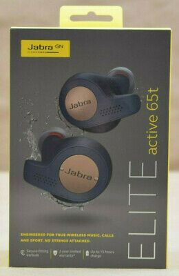 Jabra Elite Active 65t True Wireless Sports Earbuds w/Charging Case, Copper Blue