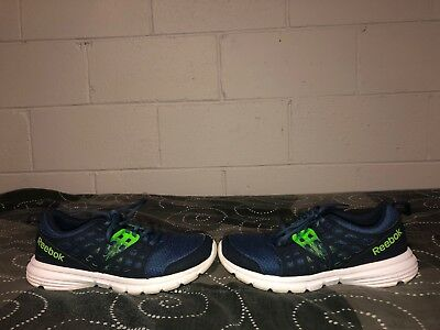 Reebok Speed Rise Mens Athletic Running Training Shoes Size 8 Blue Neon  Green 600ca3f8d
