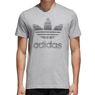 beb663c51f3d3 ADIDAS TRACTION IN Action Trefoil Men's T-Shirt Medium Grey Heather ce2241