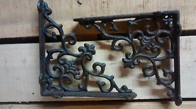 2 Cast iron Antique SM Victorian Style  Scroll Braces