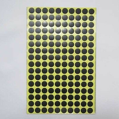 10mm Black Round Circle Color Code Dot Stickers Sticky Adhesive Labels 15 Sheet