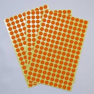 10 mm Red Round Circle Color Code Dot Stickers Sticky Adhesive Labels 15 Sheet