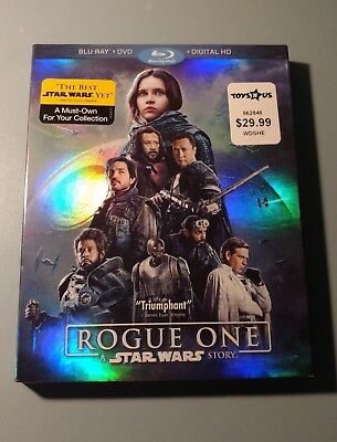 Rogue One: A Star Wars Story (Blu-ray, DVD, and Digital Code) LIKE NEW