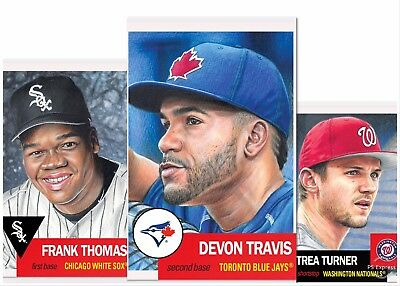2019 Topps Living Set #133 Frank Thomas #134 Trea Turner #135 Devon Travis Lot