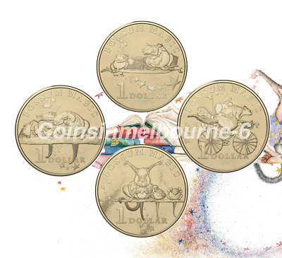 2017 Possum Magic - $1 Dollar Coin Set UNC Australia