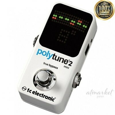 Tc electronic Polyphonic tuner POLYTUNE2MINI White genuine from JAPAN NEW
