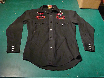 vintage Western Shirt - COWBOY JOE by Atantic Western size S 14-14 1/2 made USA