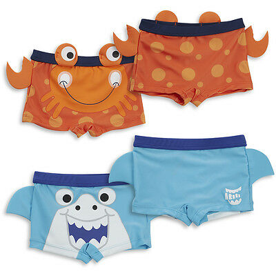 Baby / Childs Boys Novelty Summer Swimming Trunks Shorts - Shark or Crab